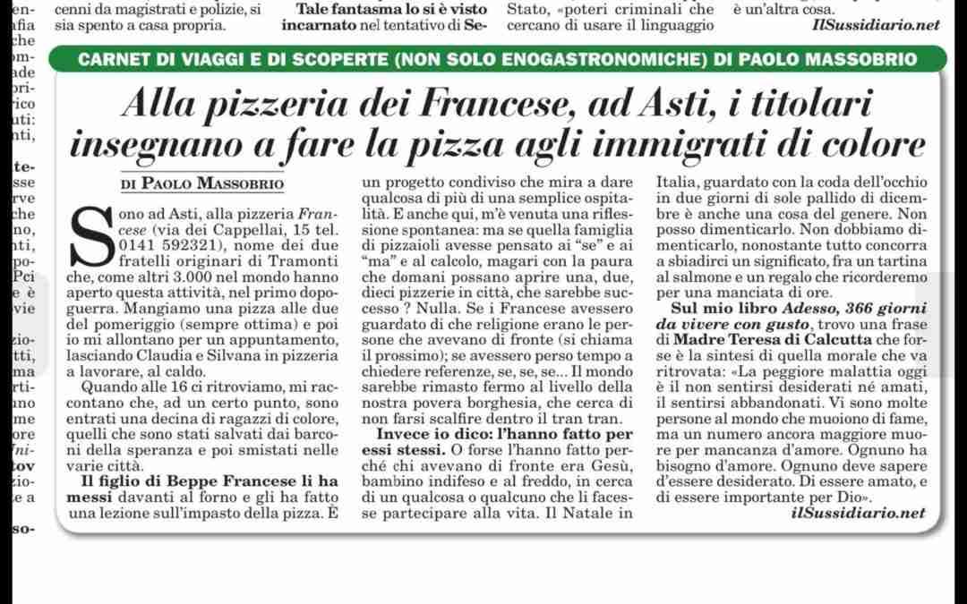 ALLA PIZZERIA DEL FRANCESE, AD ASTI I TITOLARI INSEGNANO A FARE LA PIZZA AGLI IMMIGRATI DI COLORE
